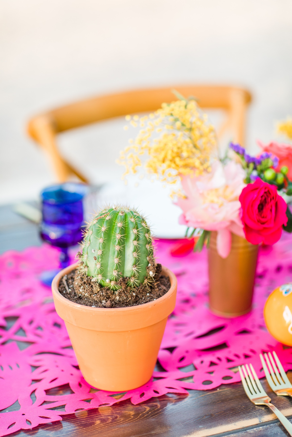 Fiesta themed reception table decor ideas