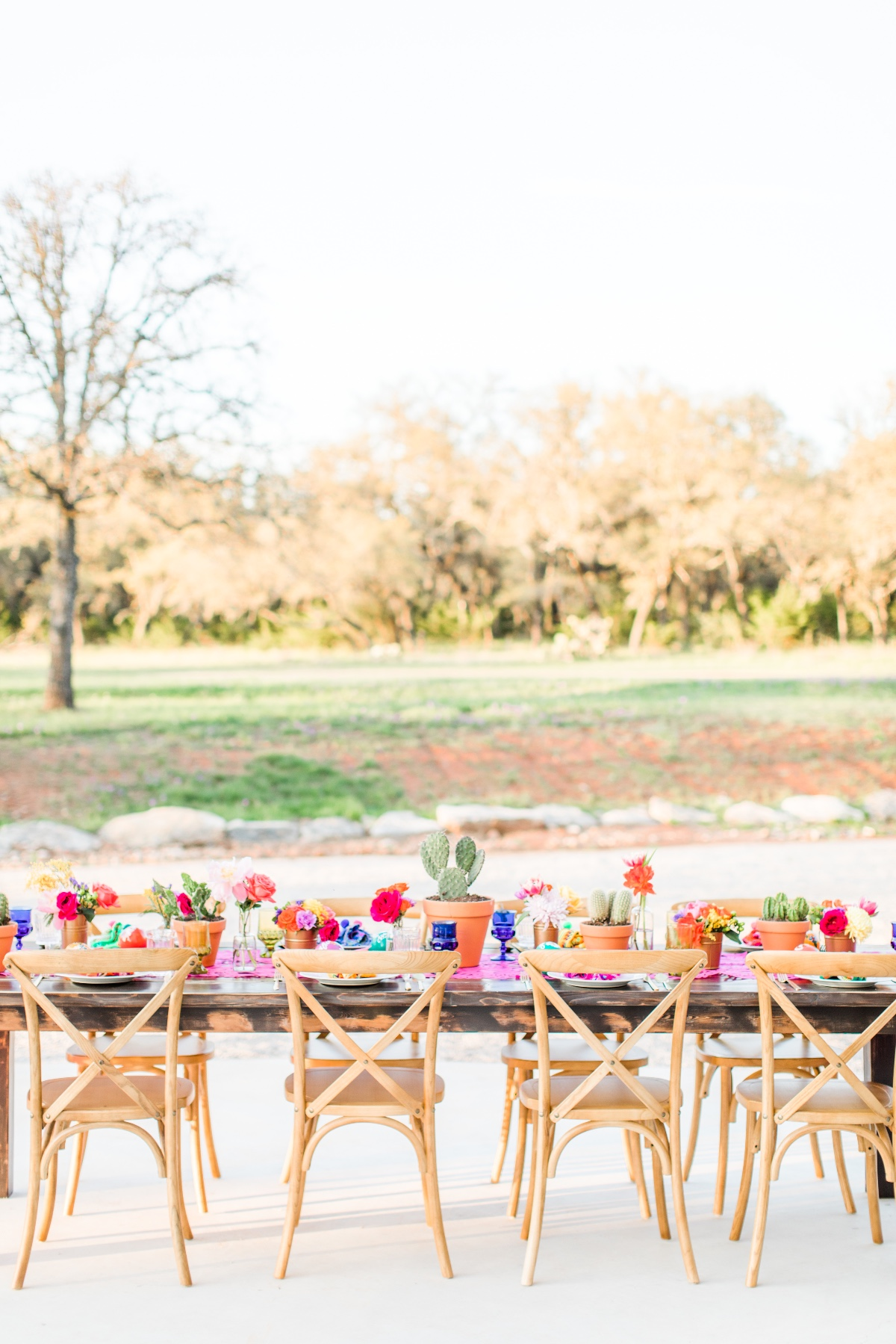 Fiesta themed wedding reception