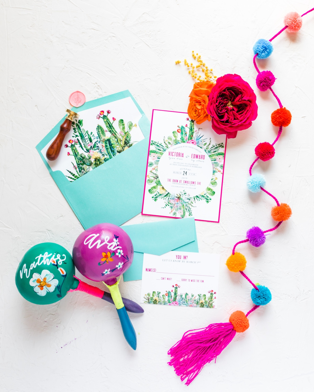Vibrant Fiesta Themed Wedding Ideas At A Texas Wedding Venue