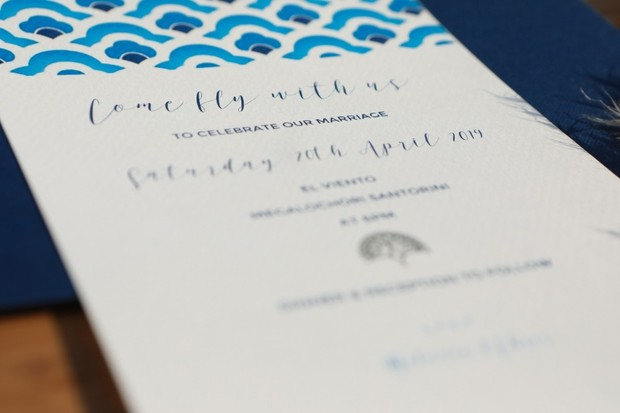 blue wedding inviations