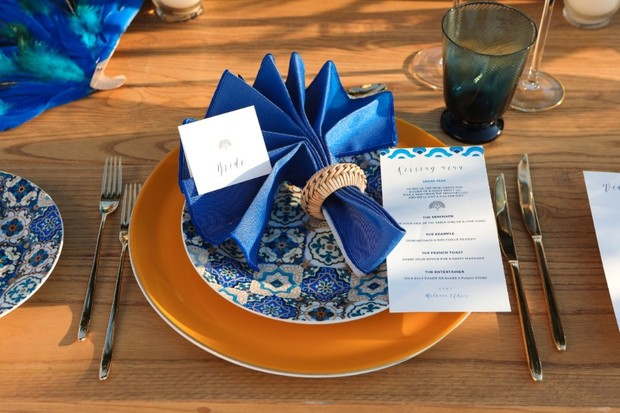 blue wedding table decor ideas