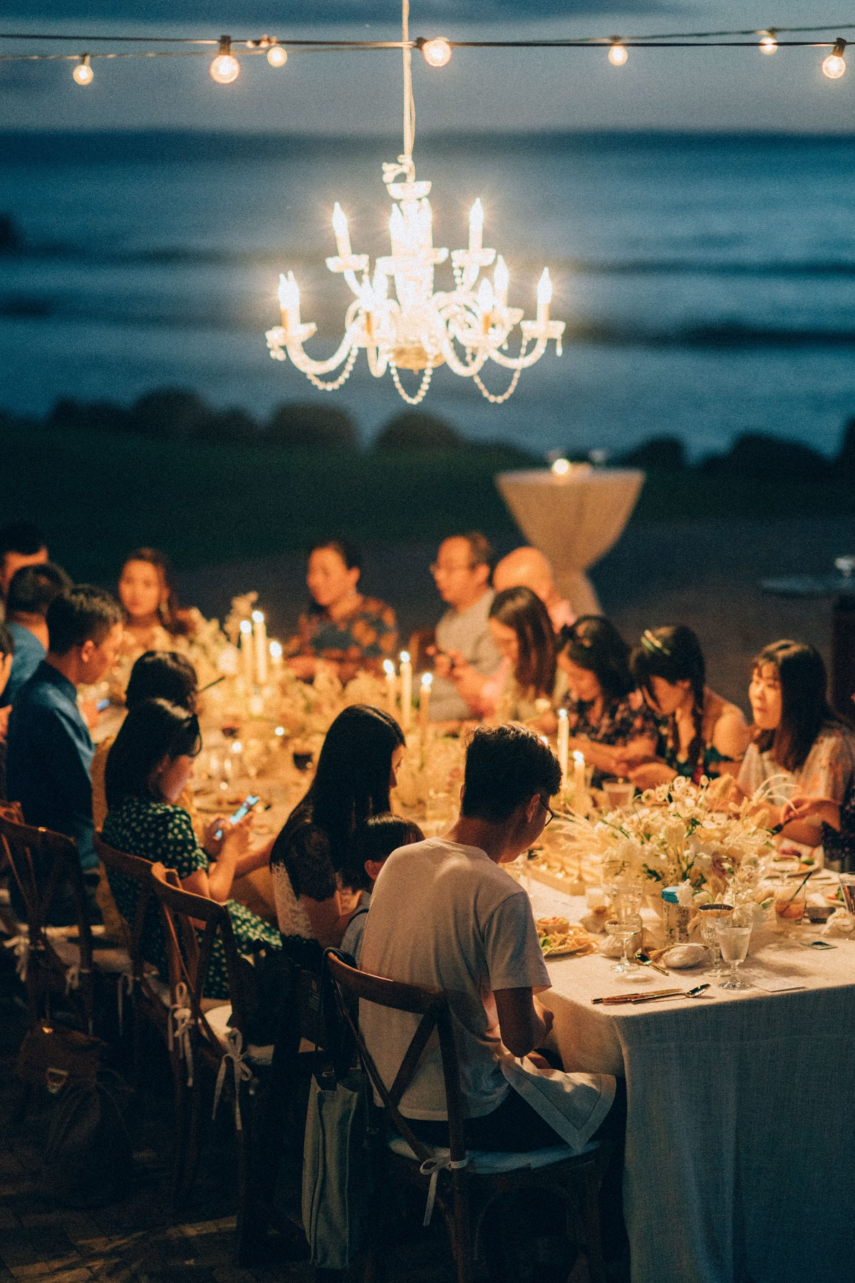 candlelight wedding reception in Maui