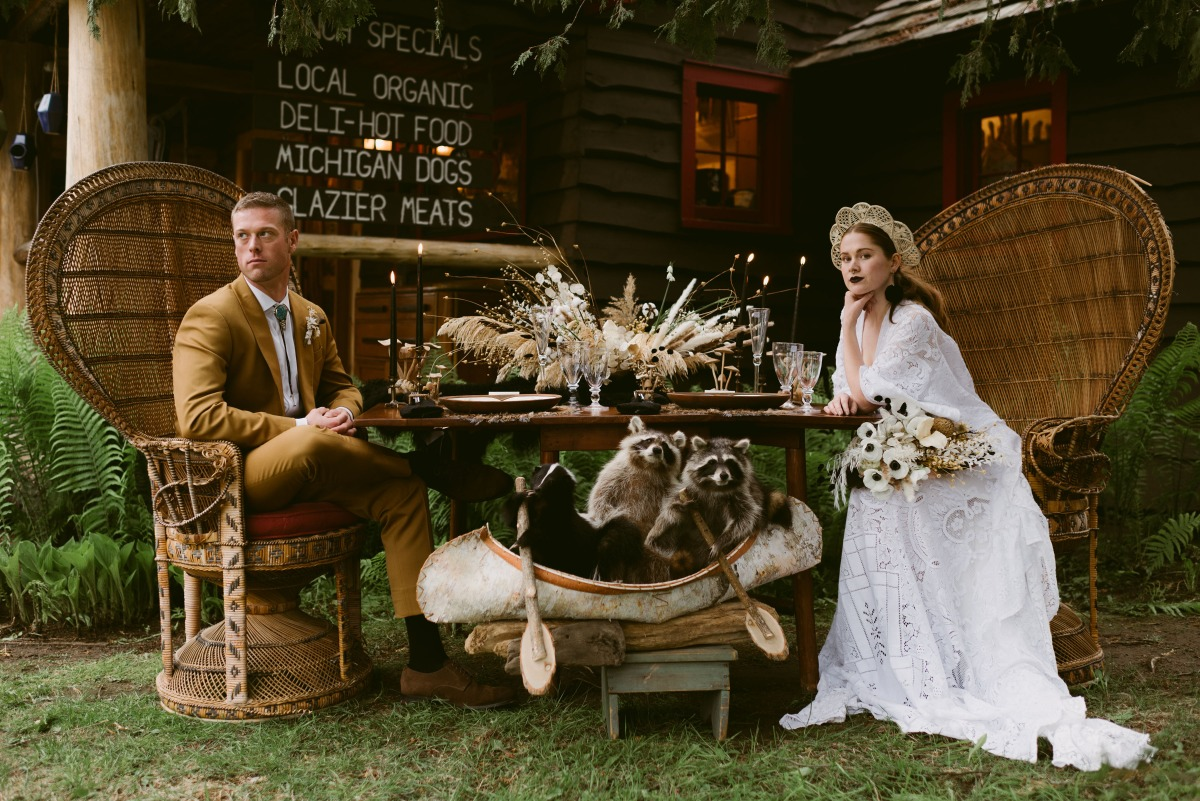 Bride and groom during reception photography ideas