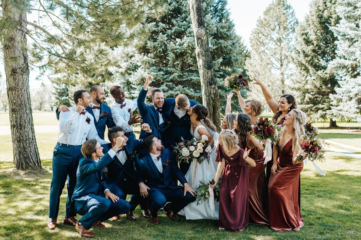 wedding party photography idea