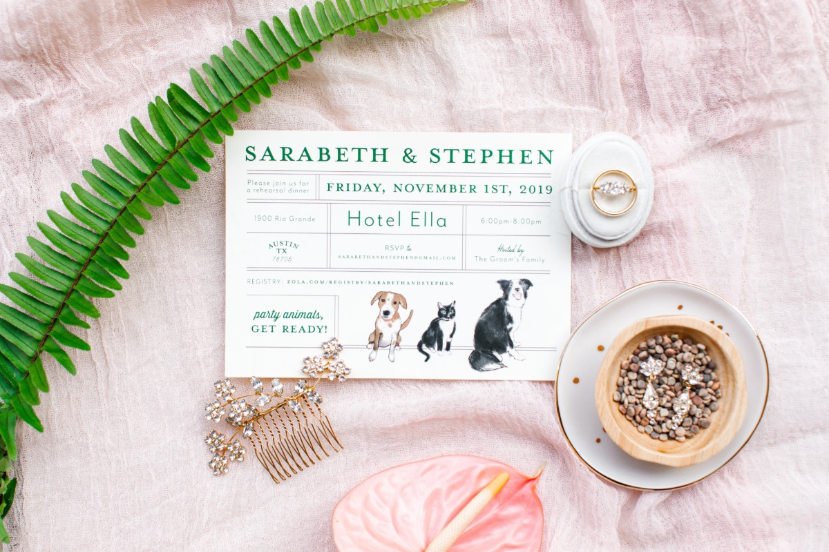 Pet inspired Save the Date Cards