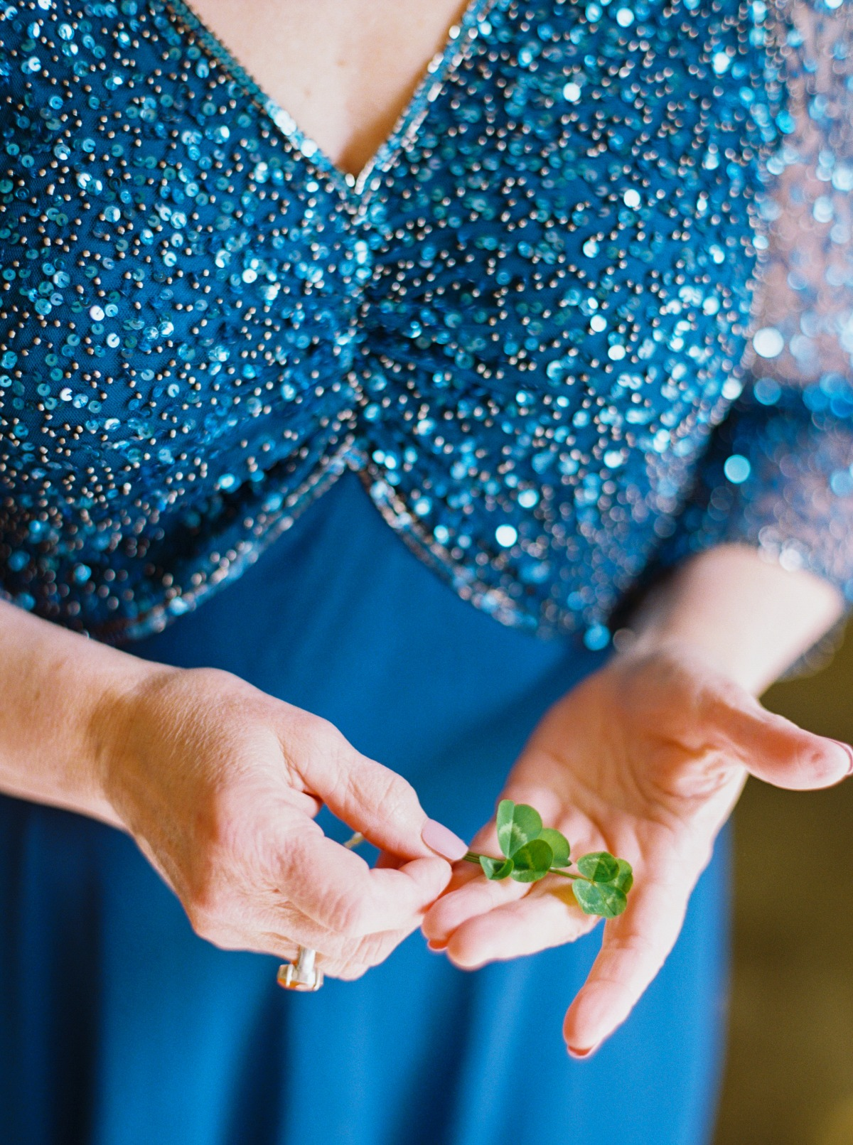 four leaf clover for luck at wedding