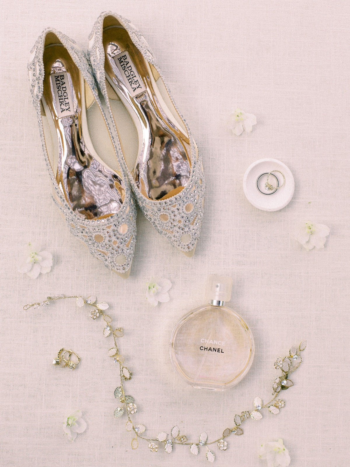 flat lay styling ideas with Badgley Mischka Shoes