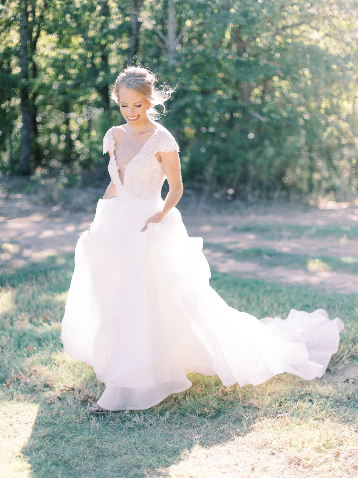 BLUSH by Hayley Paige Style #WILLOW cap sleeve ballgown