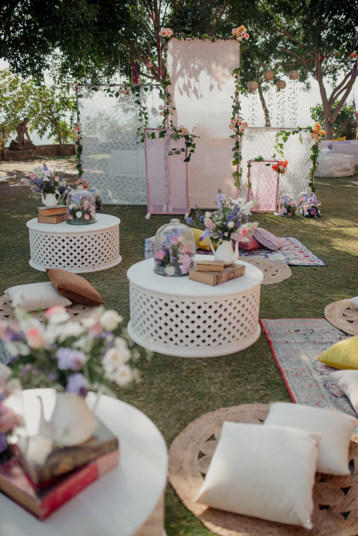 garden party at Indian tea ceremony