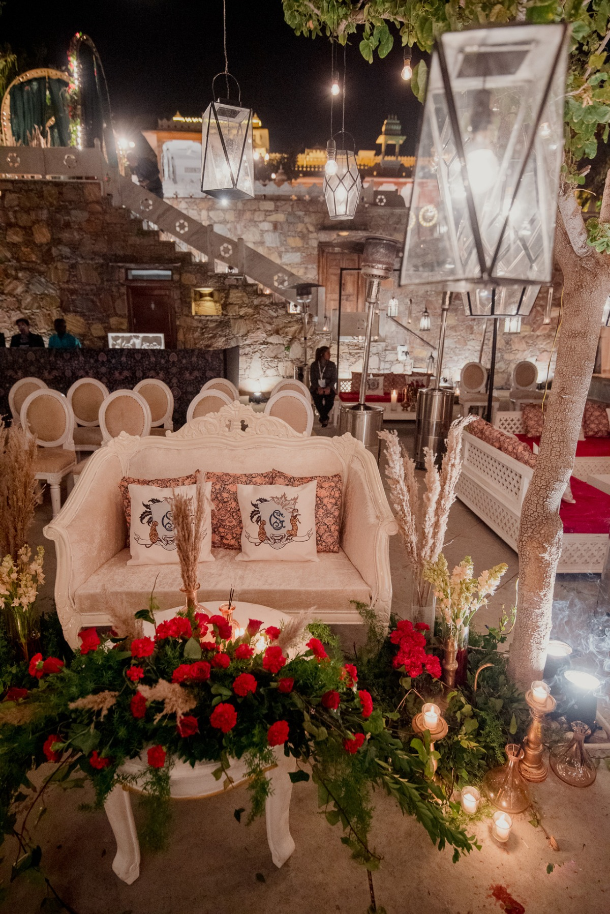bride and groom seating ideas at Sangeet