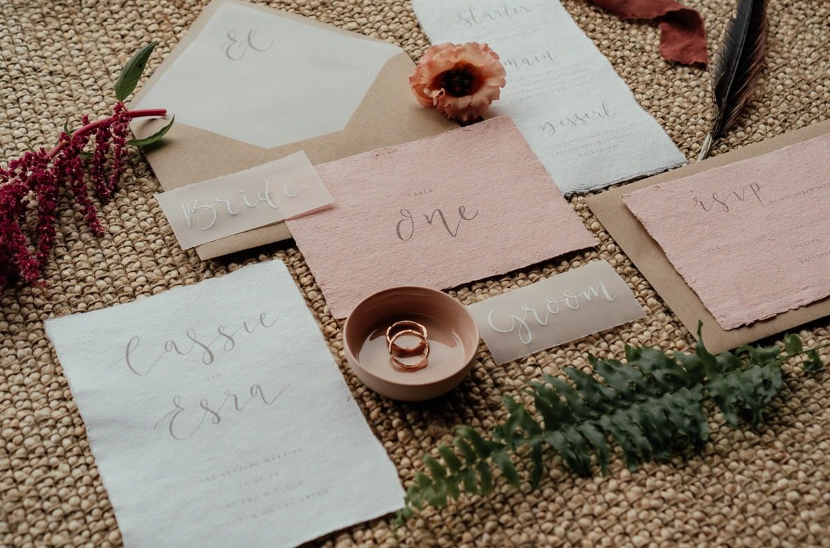 boho chic wedding invites