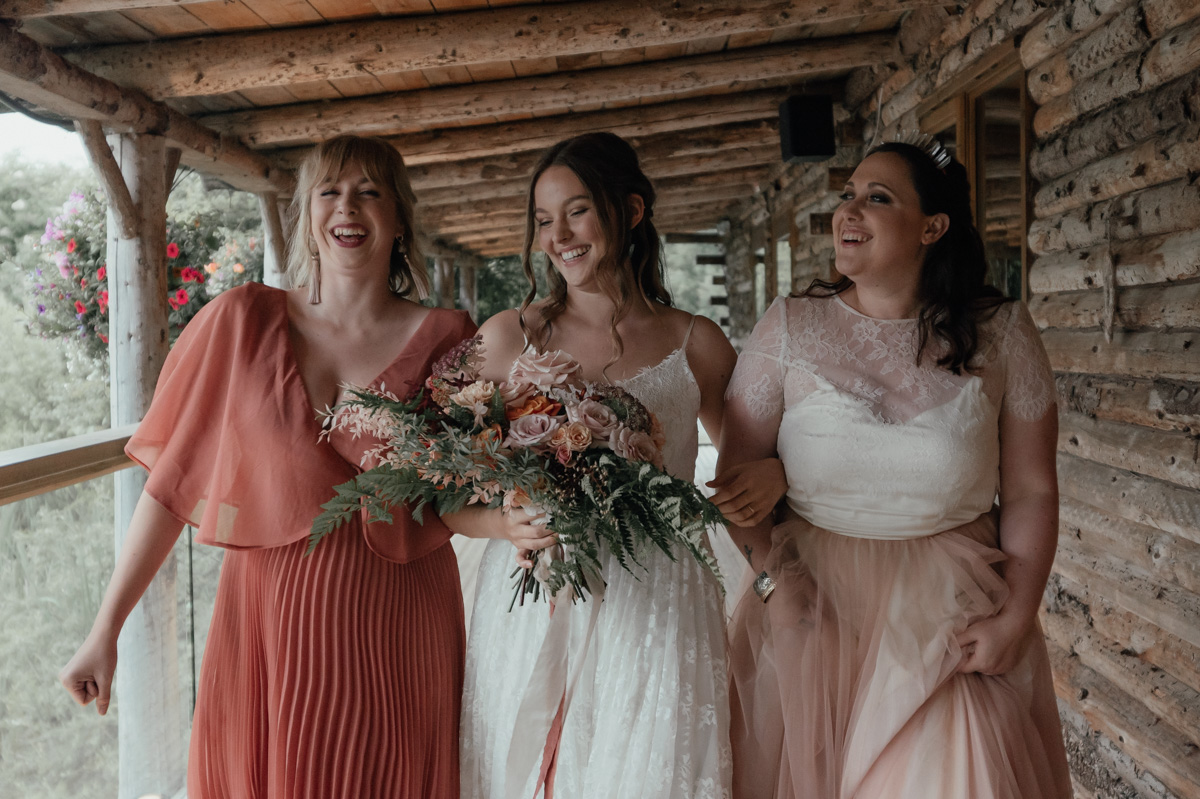 blush and terra cotta bridesmaid dresses