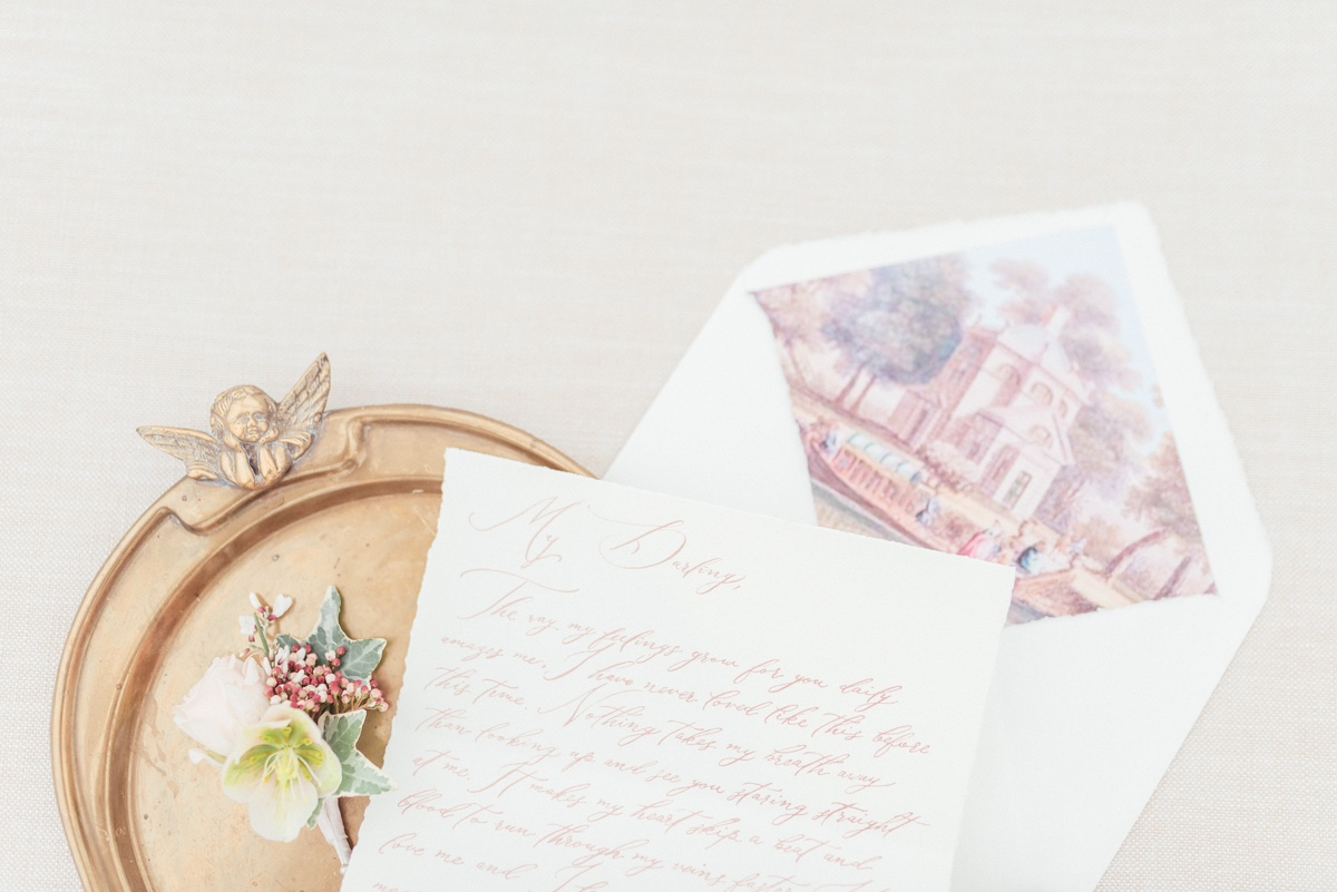 hand written letter to the groom