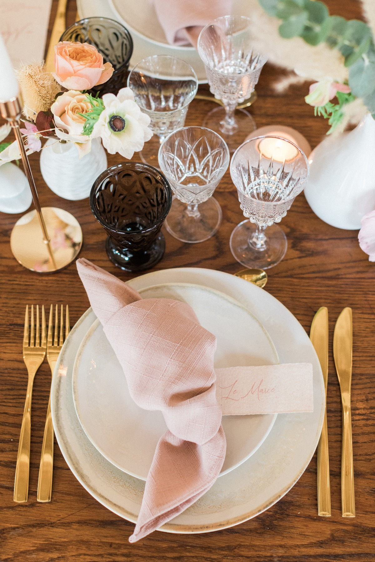 blush wedding reception decor ideas