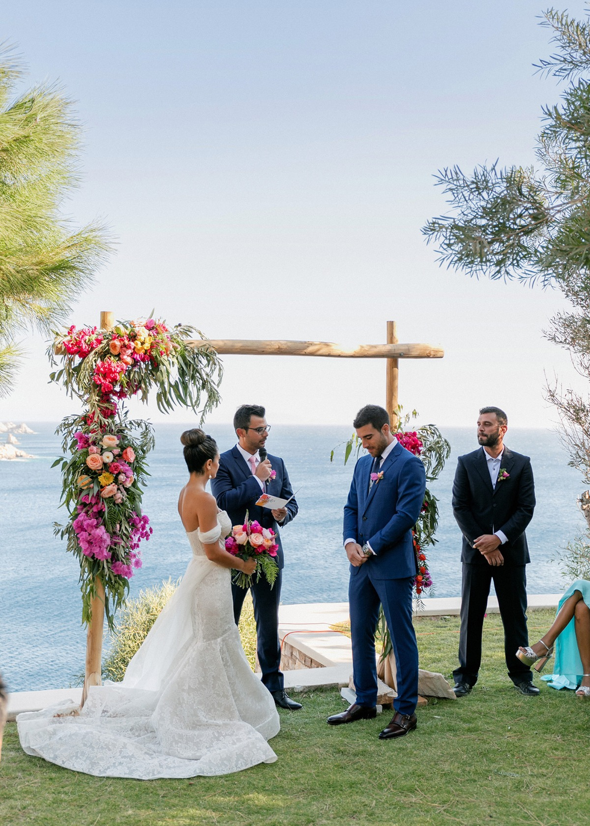 Greece wedding ceremony on the island of los