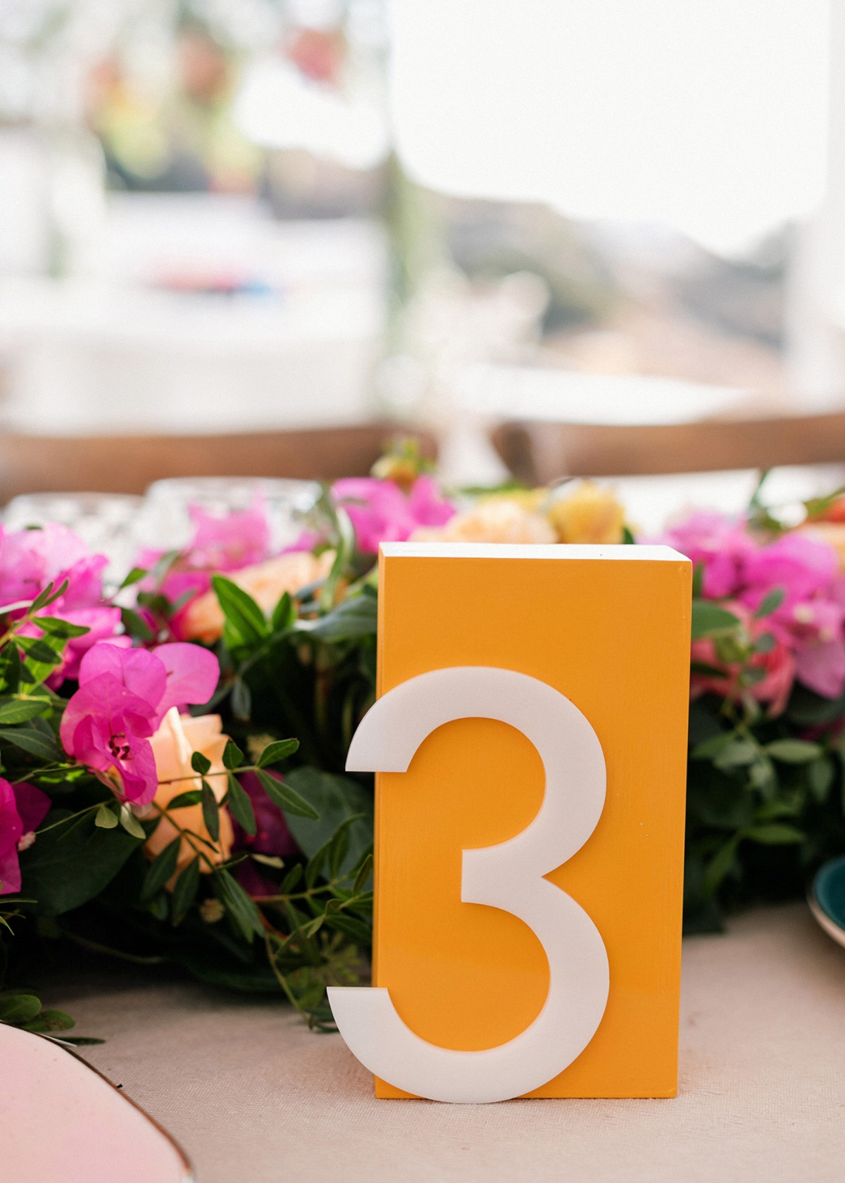 plexi glass table numbers