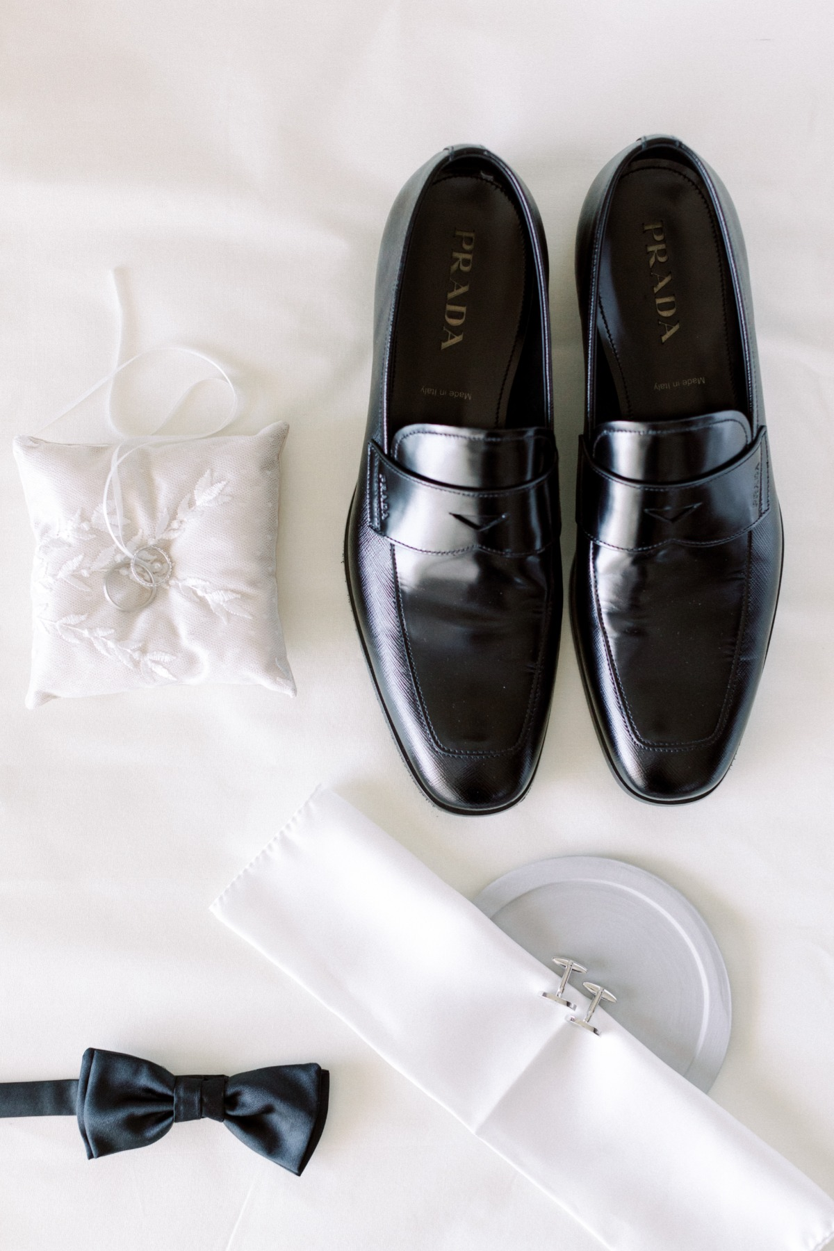 Groom flat lay styling