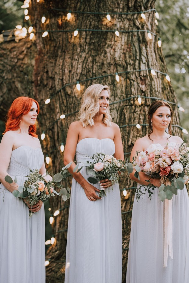 dove grey bridesmaid dresses