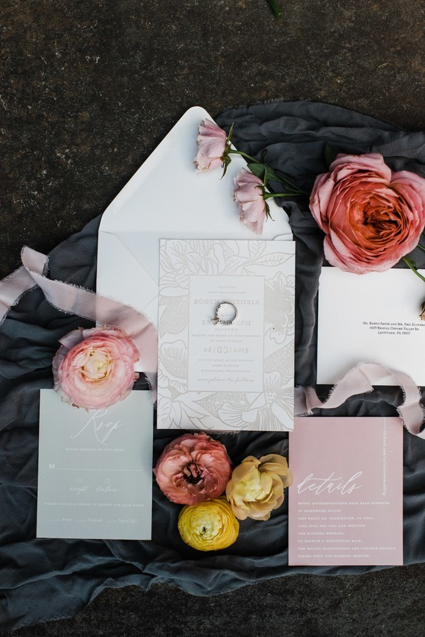 Minted wedding invites.