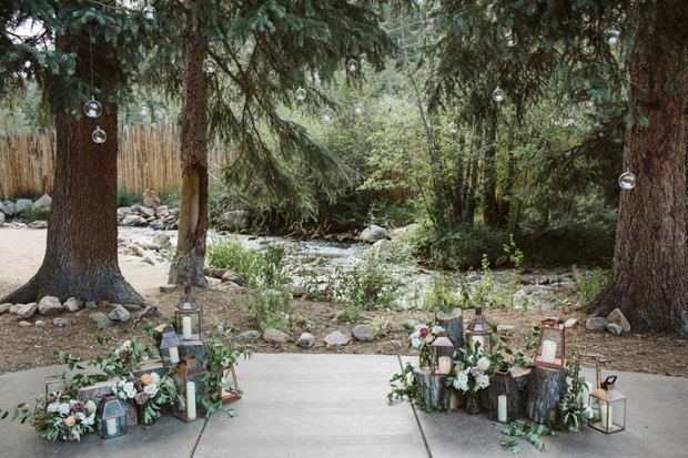 wedding ceremony setup at Blackstone Rivers Ranch