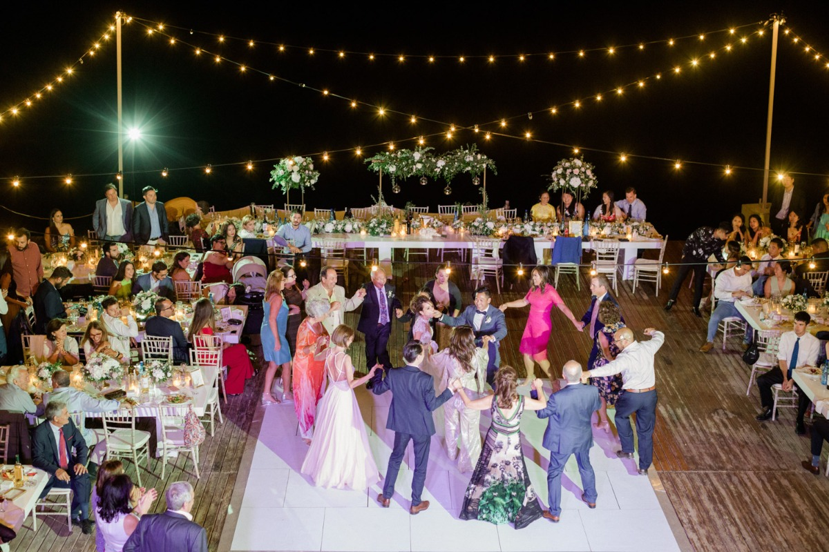 Lazarou Beach bar wedding reception