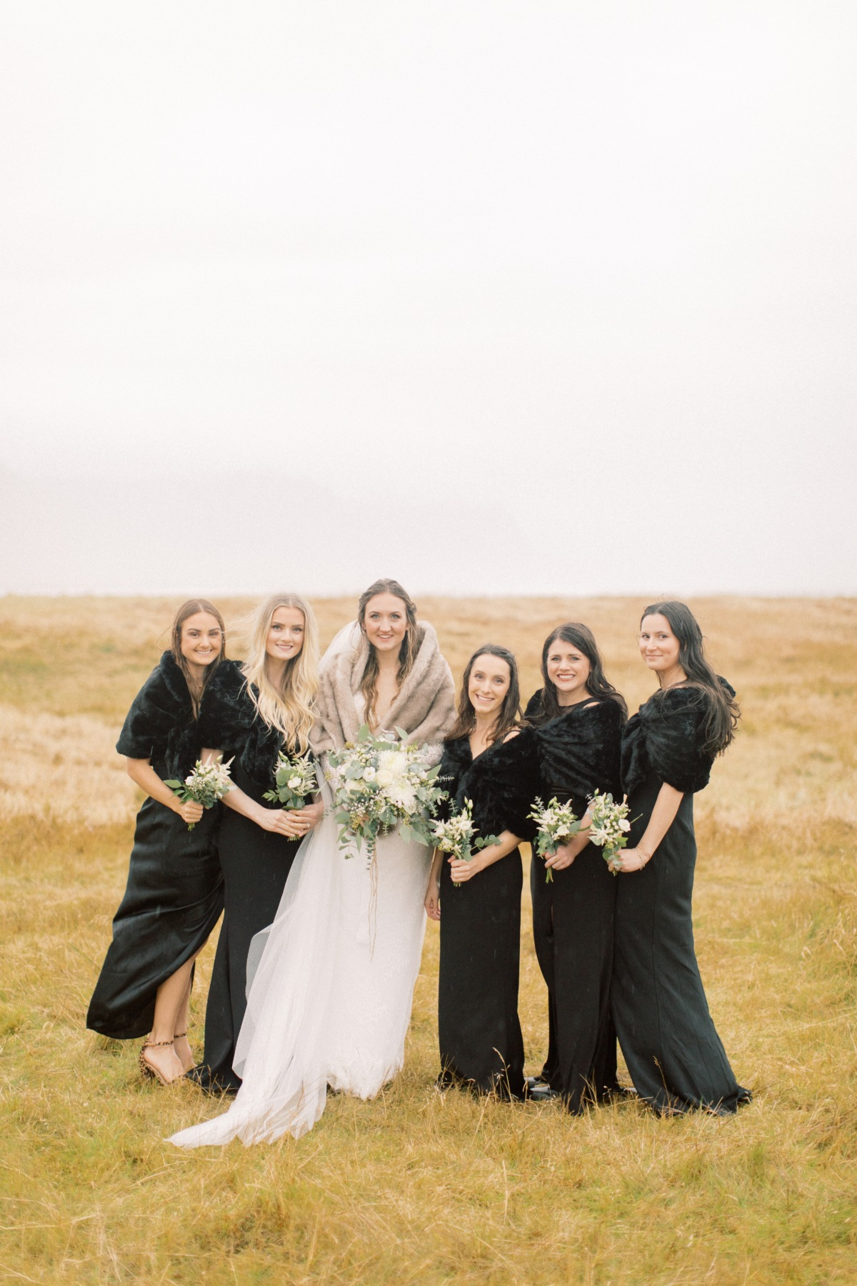 Bridesmaids at Iceland Destination wedding