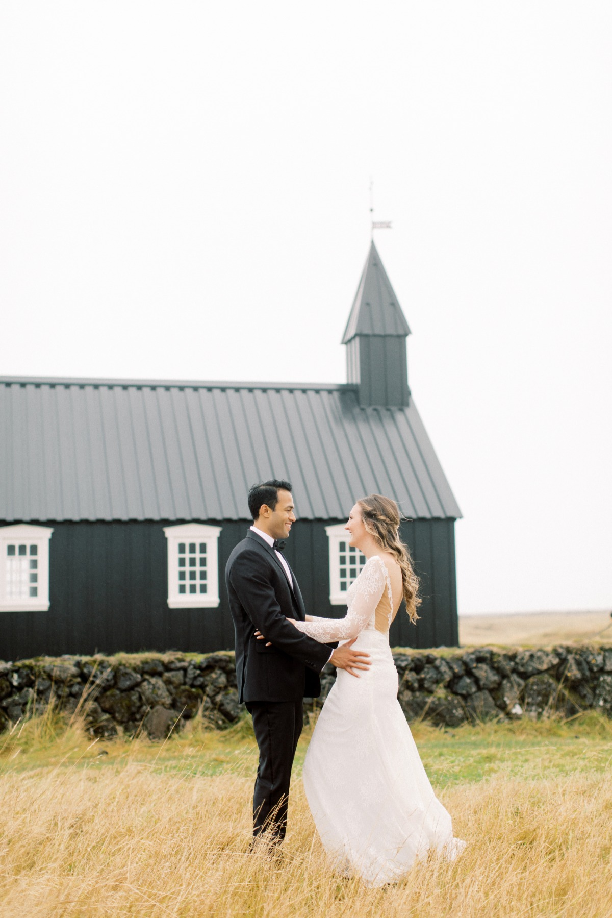 first look at Iceland destination wedding