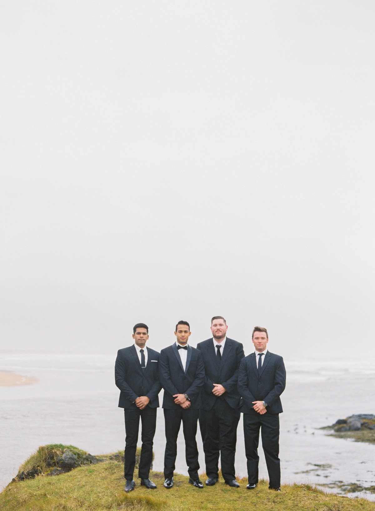 Groomsmen at Iceland destination wedding
