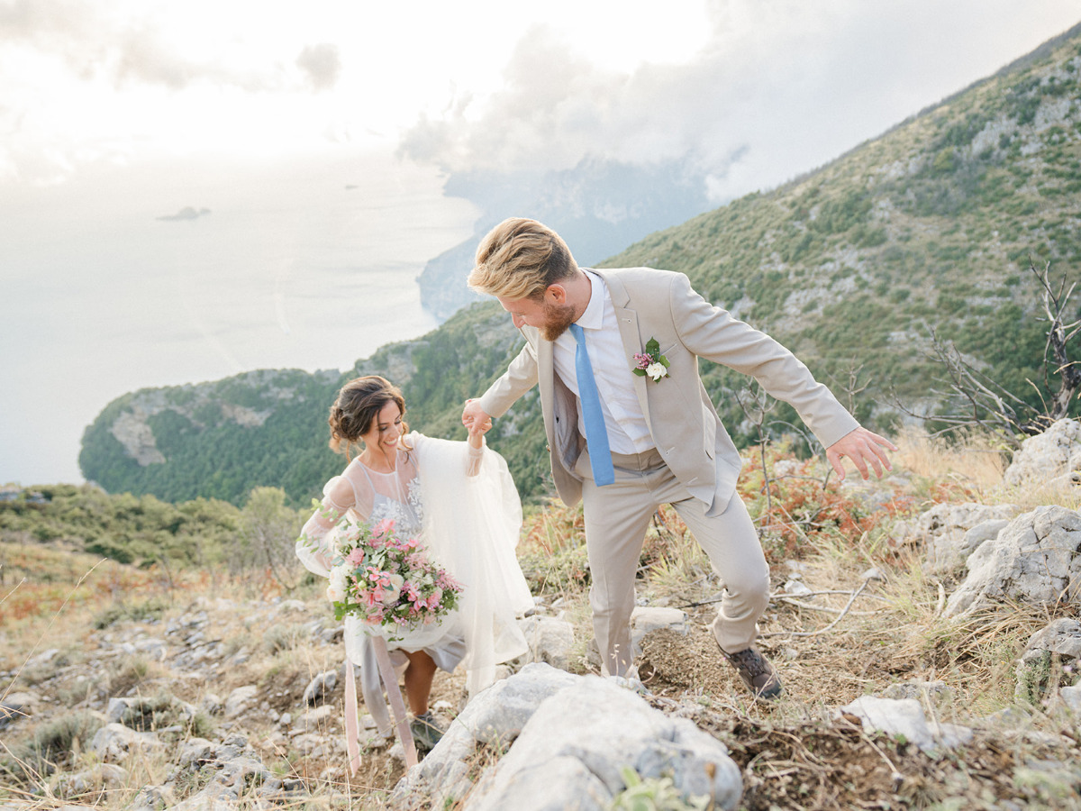 The Path of the Gods wedding elopement