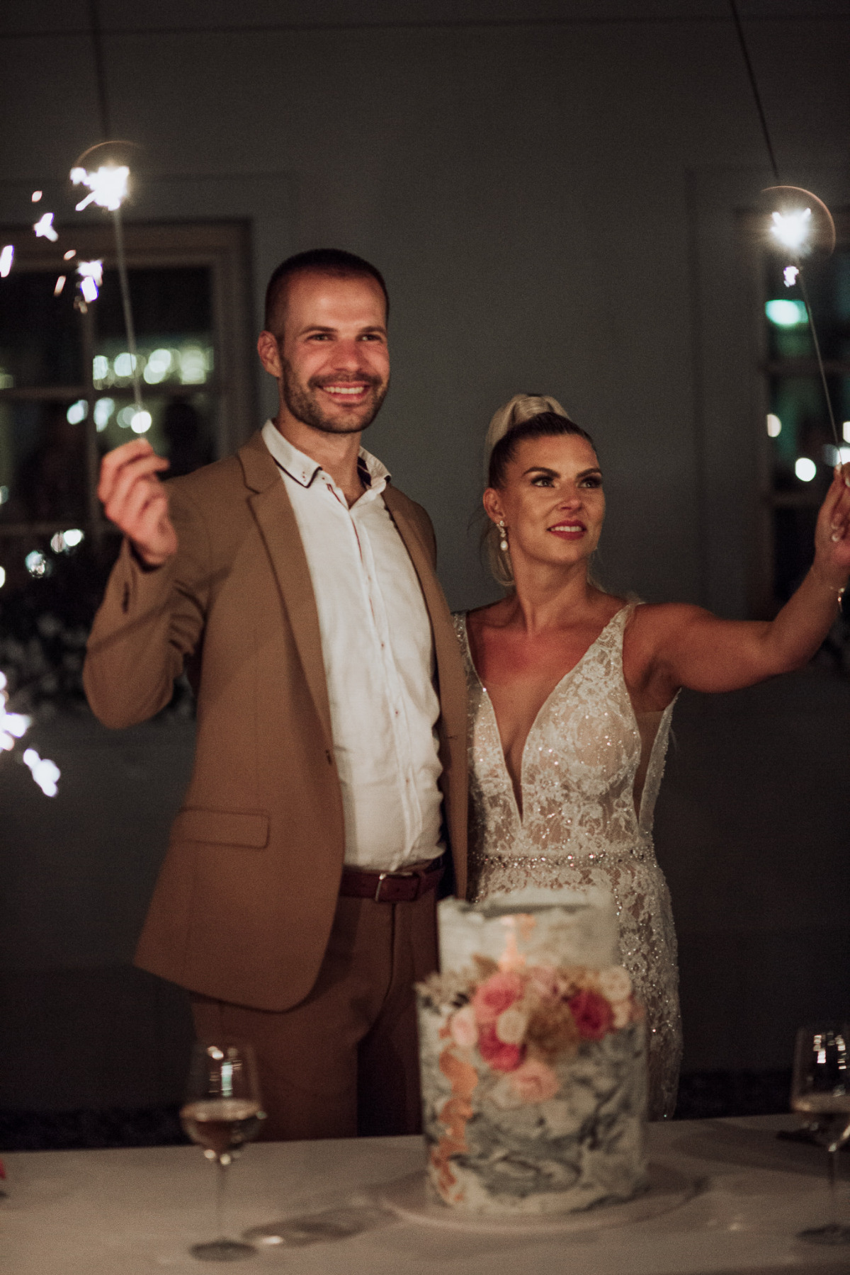 sparkler wedding toast