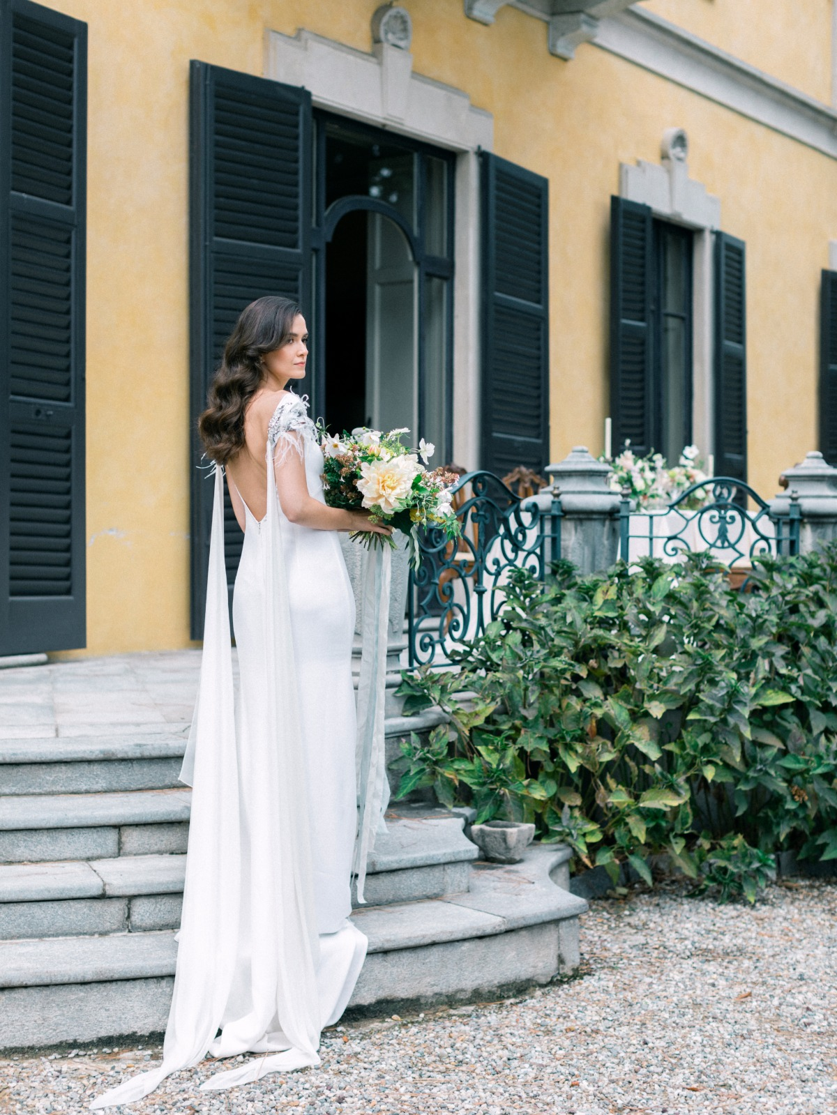 Vesssna Feather Wedding Dress