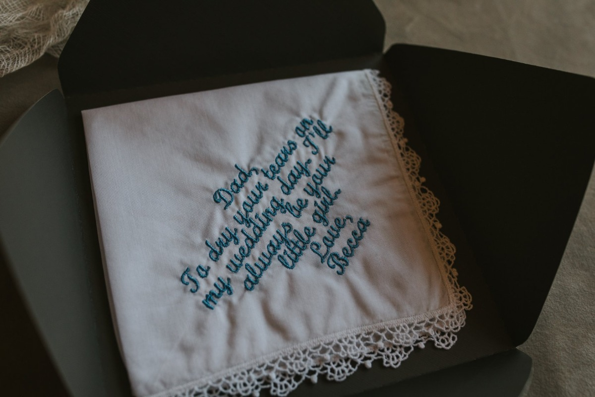 personalized hankie for Dad