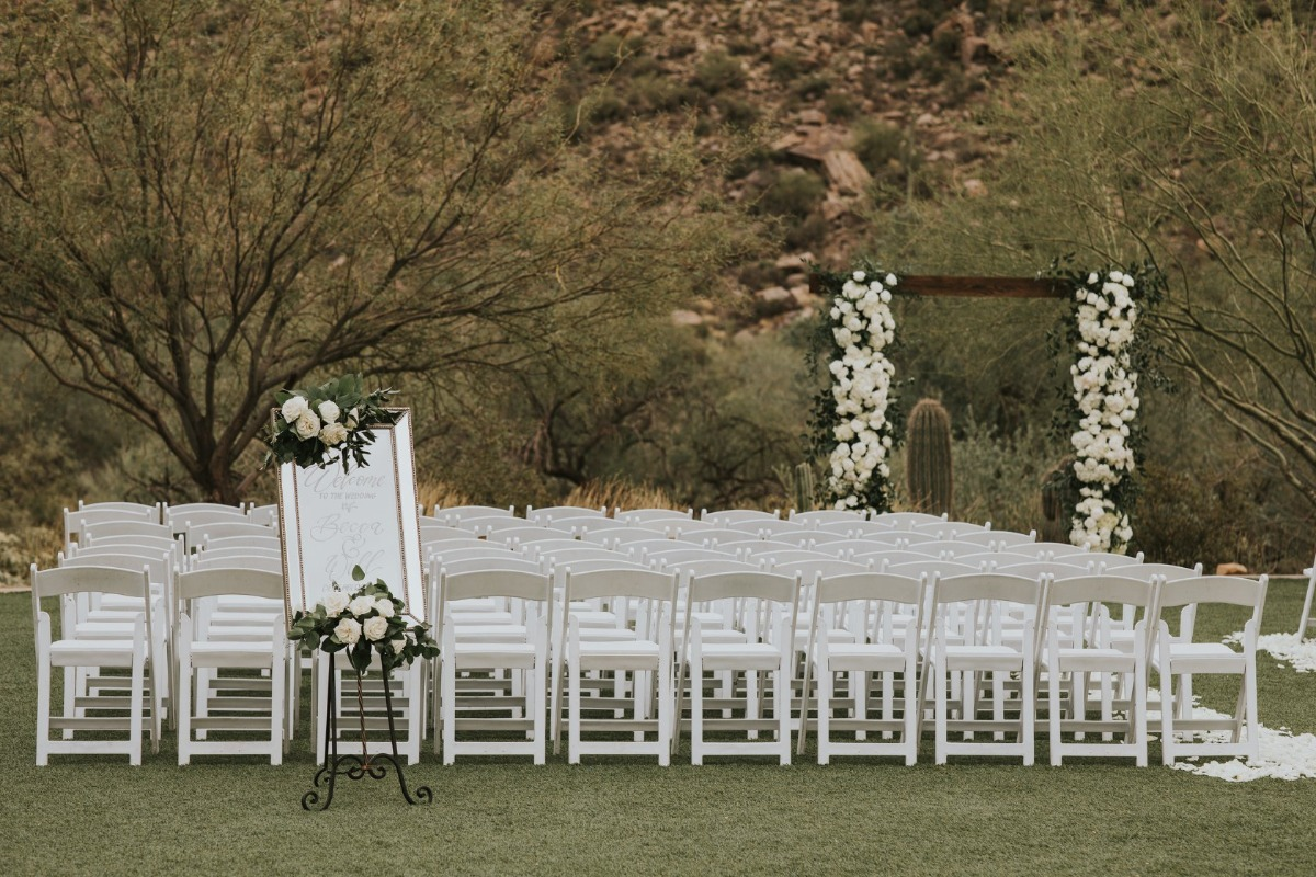 Ritz Carlton Arizona wedding ceremony set up