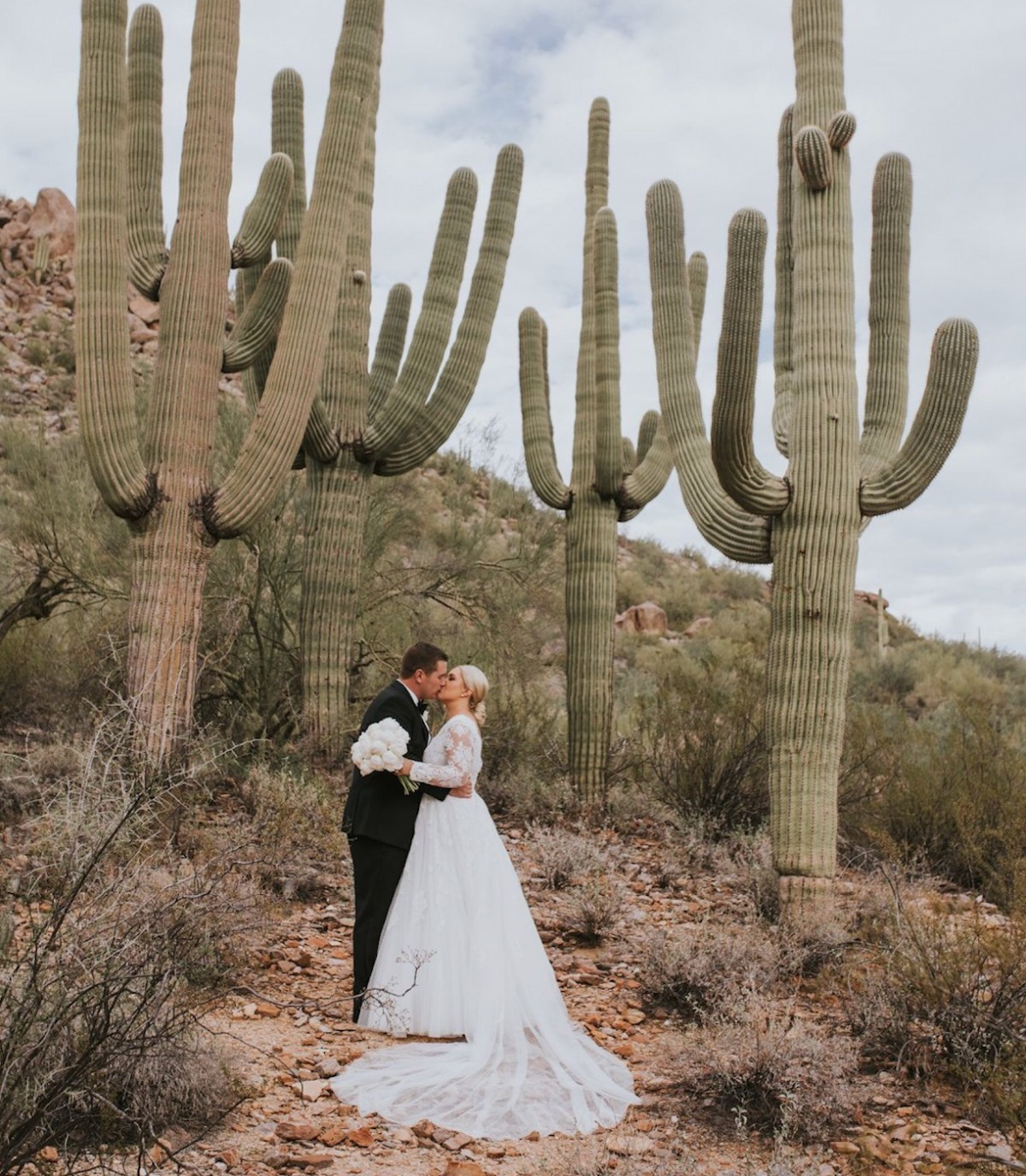 Ritzy Black and White Wedding at Ritz-Carlton in Arizona