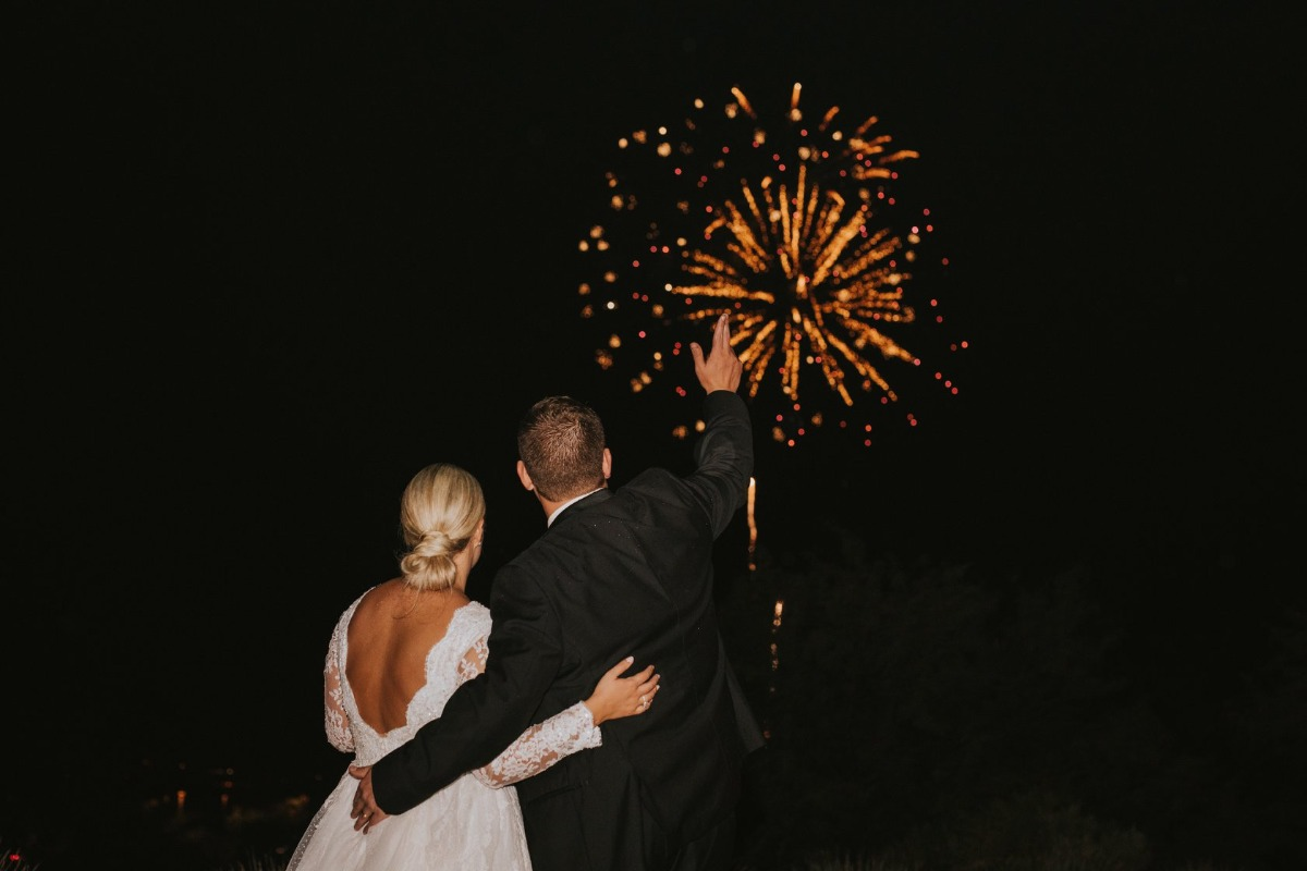 firework show at wedding
