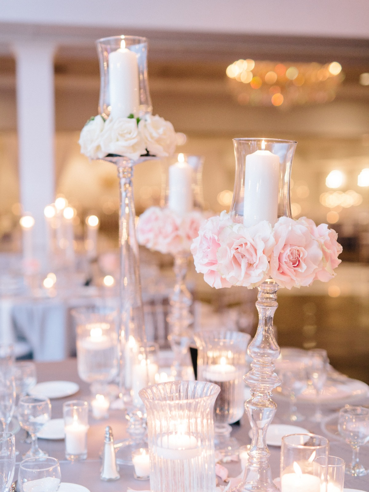 candle ring wedding centerpieces