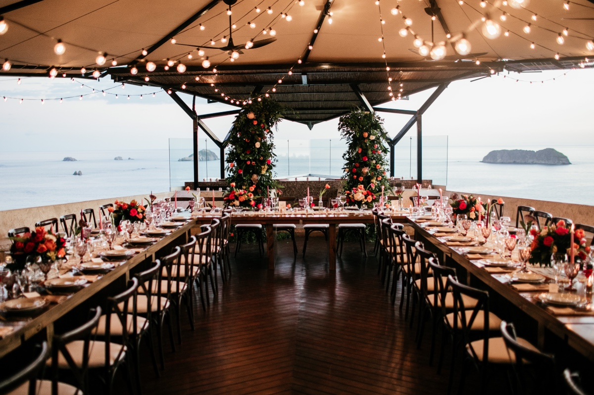 wedding reception at Villa Punto de Vista