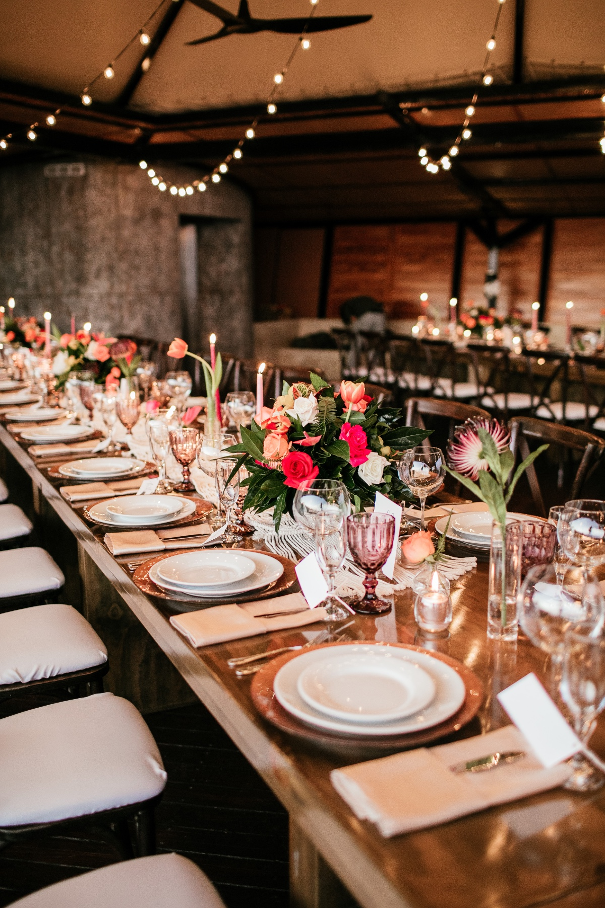 tropical wedding reception decor