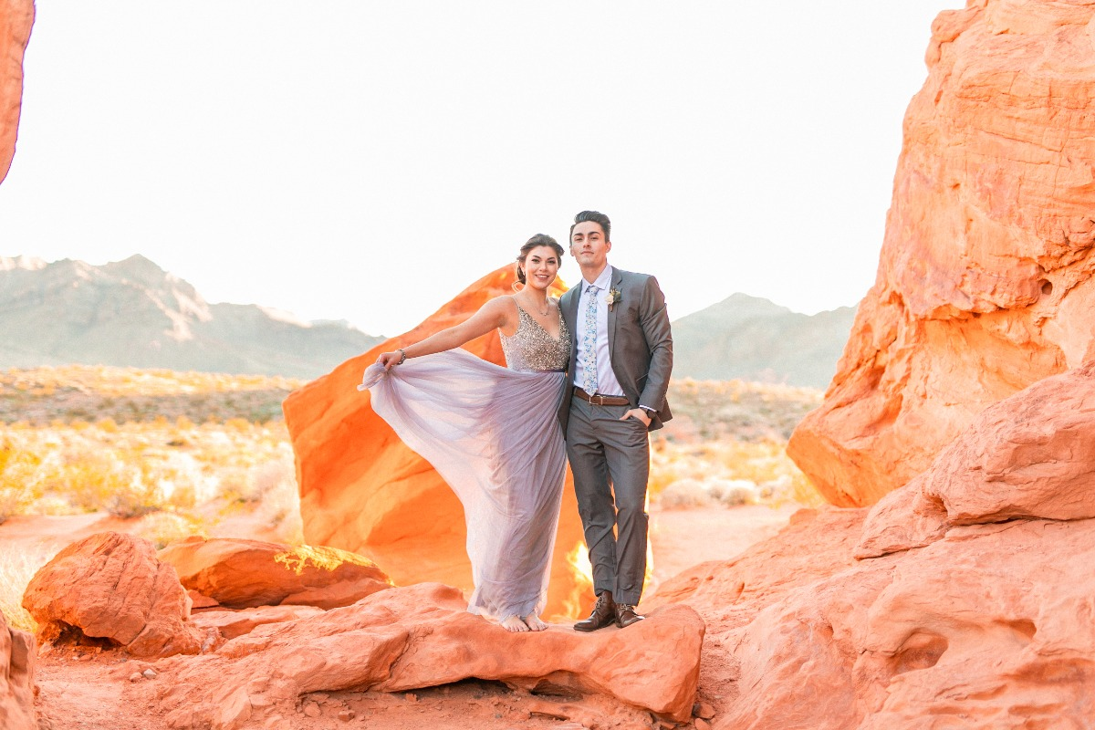 Las Vegas Elopement idea at the Valley of Fire
