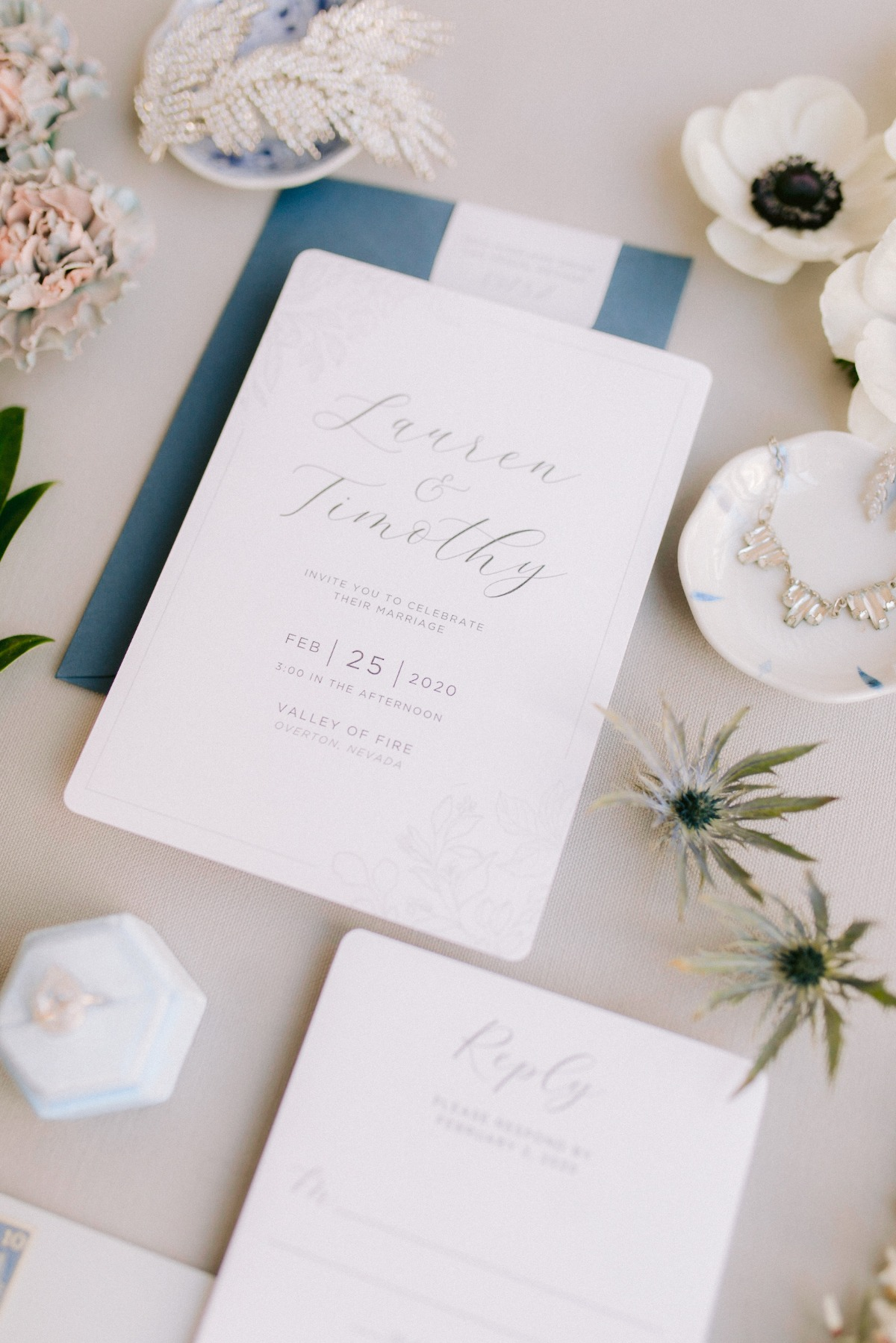 simple and elegant wedding invites from Paper and Home