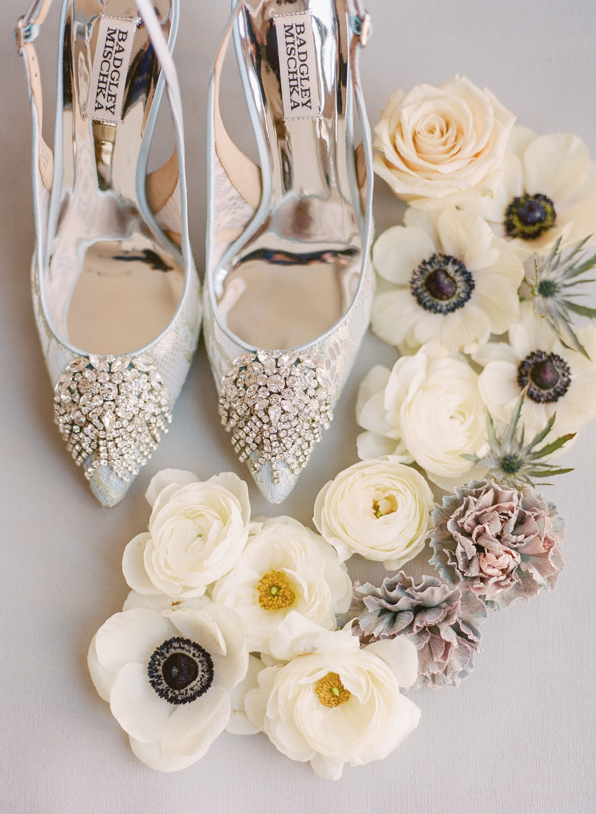 Badgely Mischka wedding shoes
