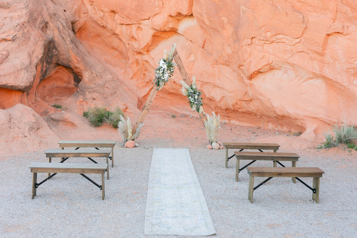 Valley of Fire wedding ceremony