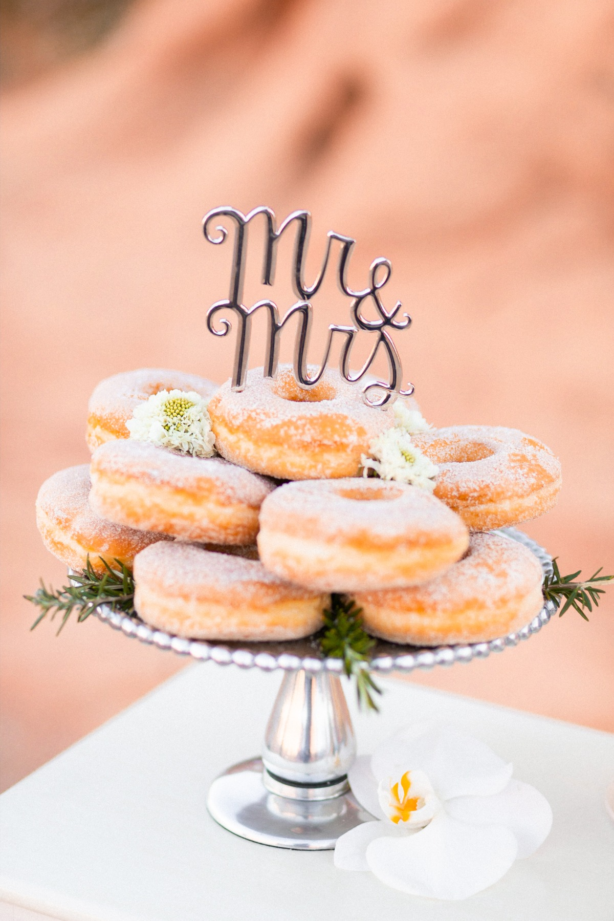donuts with cake topper