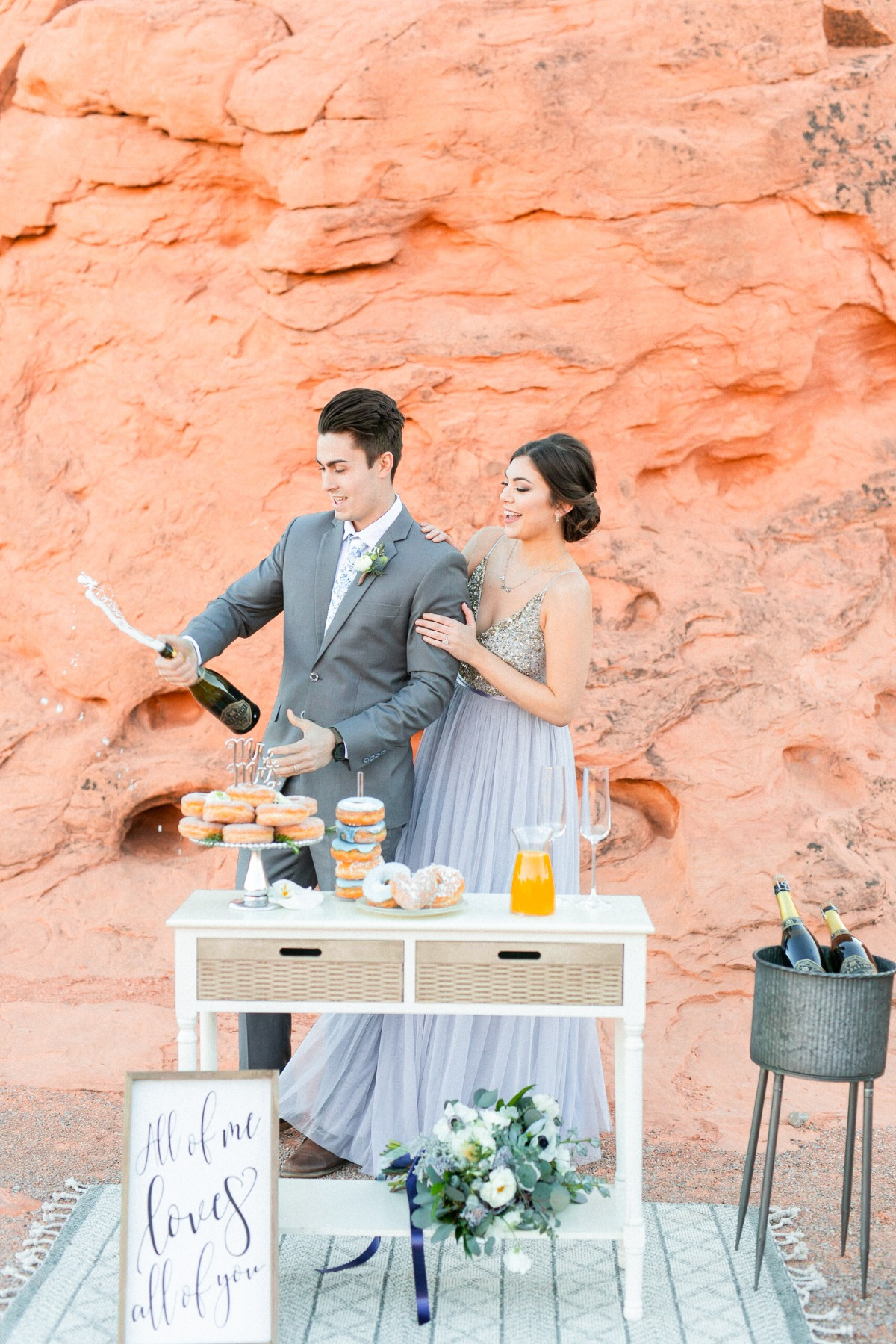 Mimosa bar at elopement
