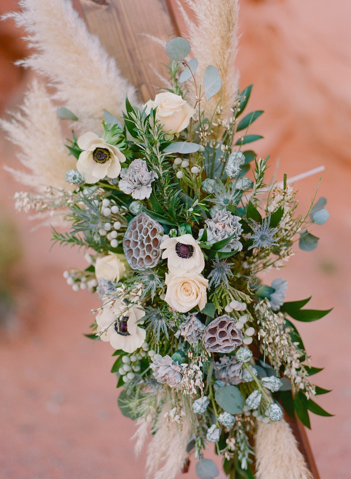 flowers used in wedding arch