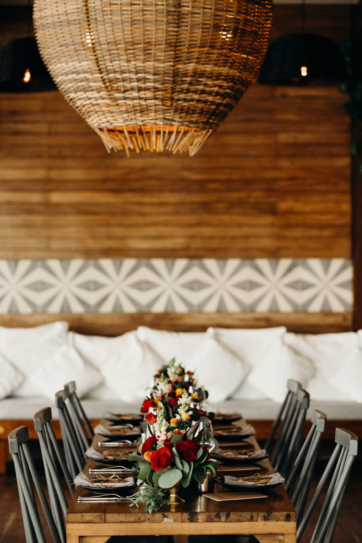 The Real Coconut Restaurant and Spa in Tulum wedding reception