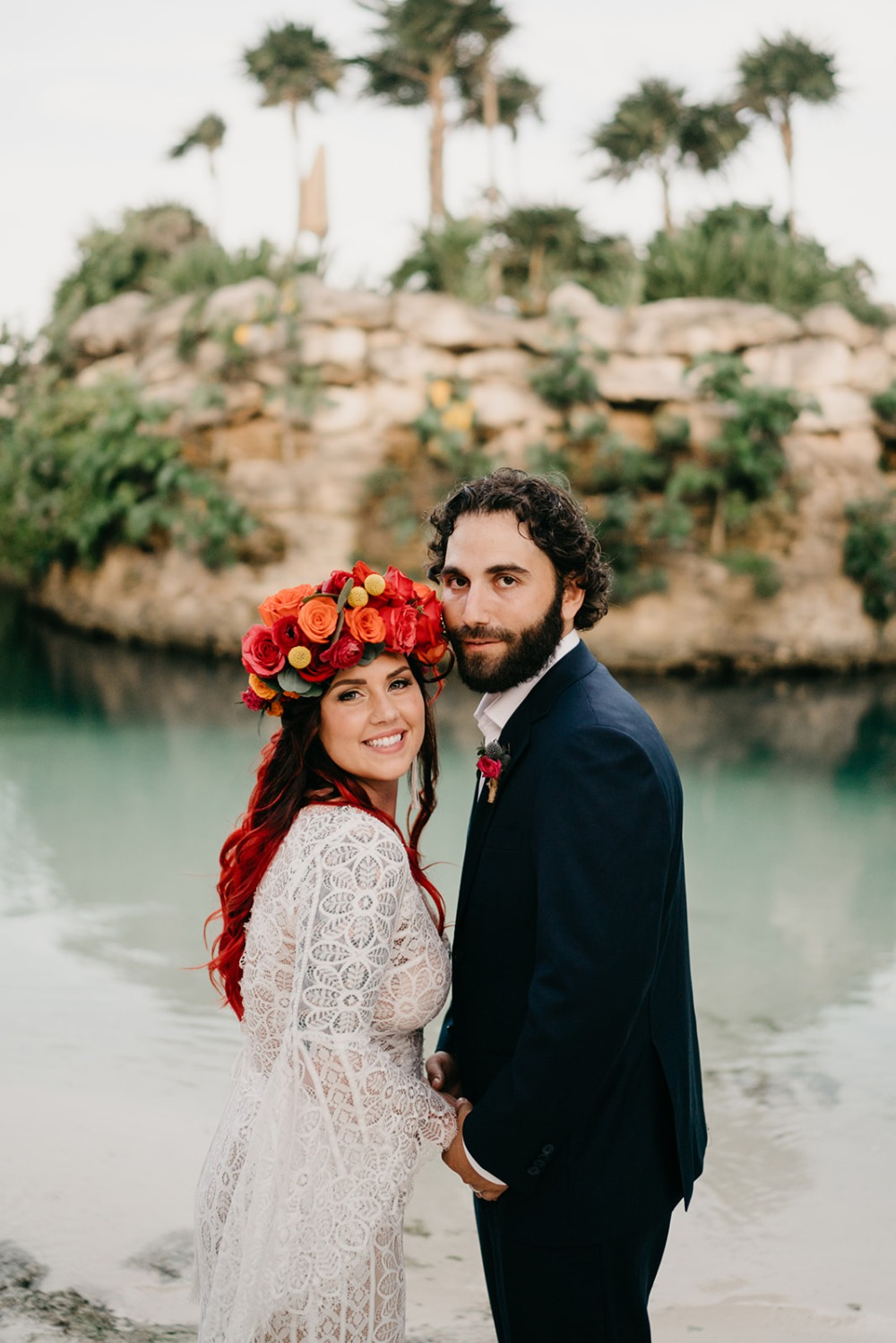 Frida Kahlo Inspired This Crazy Colorful Small Mexico Wedding
