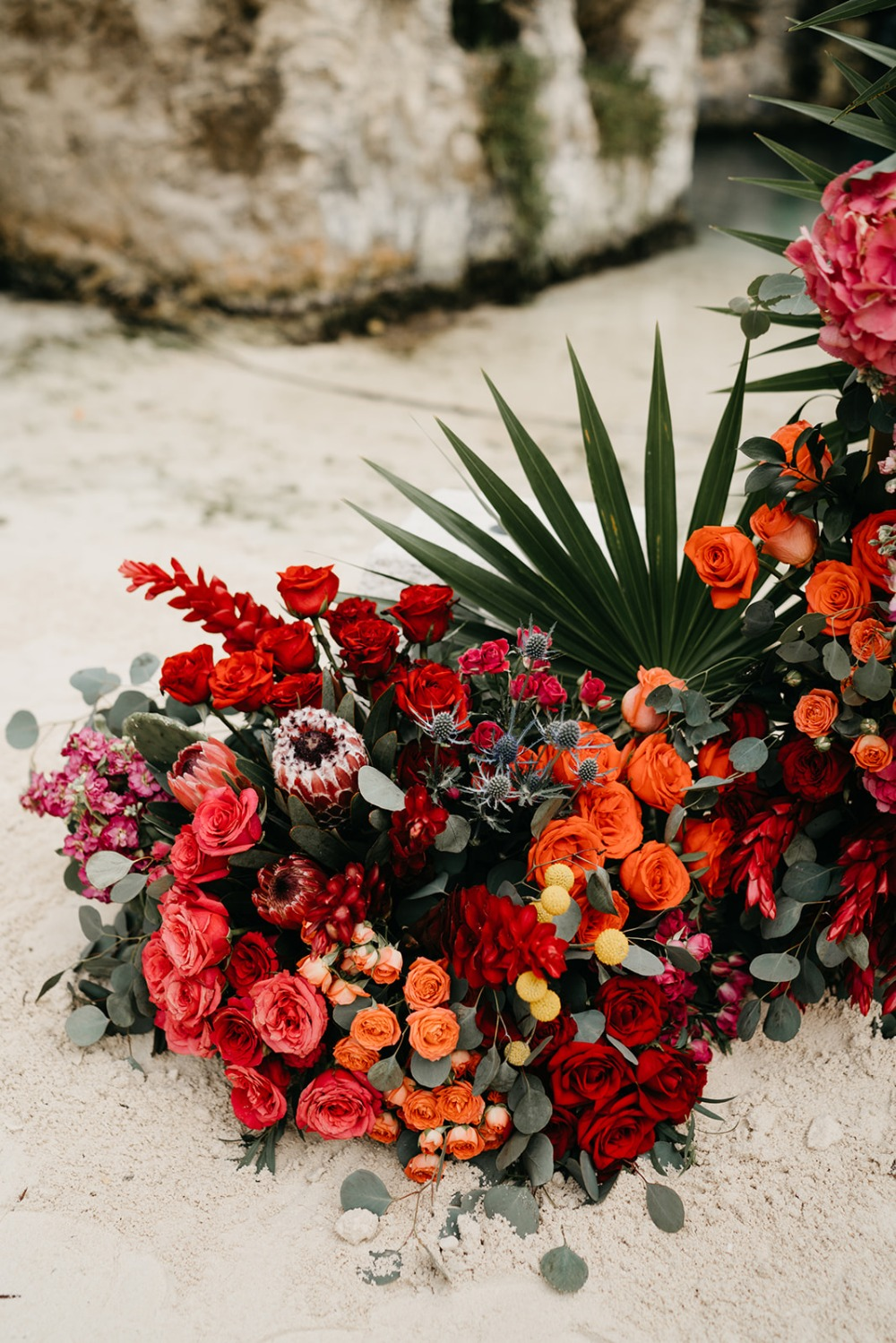 crazy colorful wedding flowers