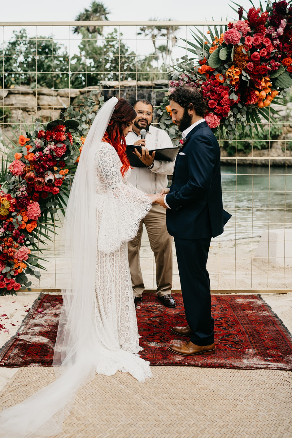 bright and colorful Mexico destination wedding