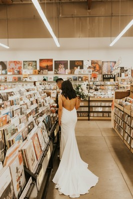 A Song Influenced This Bride's Wedding Dress + Their Entire Wedding Track List